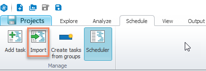 How to import files to Scheduler? | MAGNET